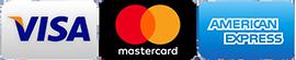 accept visa mastercar amex